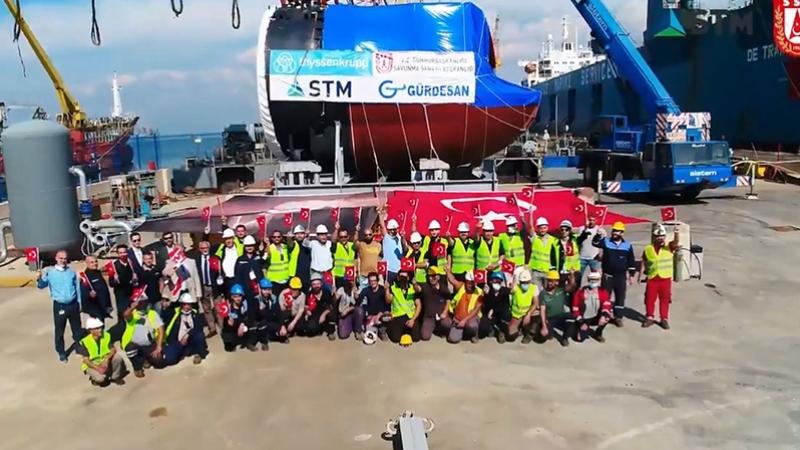 Denizaltıların torpido kovan bölümü ilk kez Türkiye'de üretildi