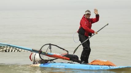 Sörf tahtasıyla dünyayı gezen gezgin Kastamonu'da