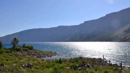 Nemrut Krater Gölü ziyaretçilerini ağırlıyor