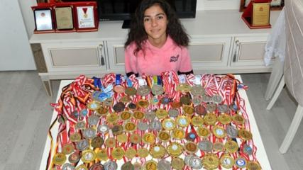 Sevilay, 5 yılda 112 madalya kazandı