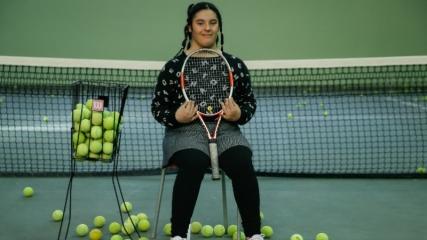 Down sendromlu tenisçi Berfin'in hedefi büyük