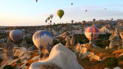 Kapadokya'yı ağustos ayında 429 bin turist ziyaret etti