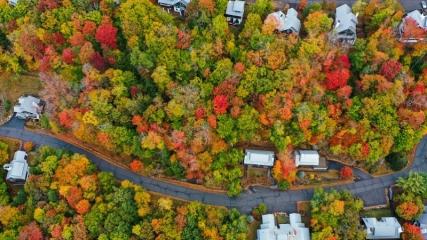 New Hampshire sonbahar renklerine büründü