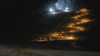 Palandöken'de kayak sezonu görsel şölenle başladı