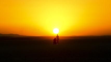 Tuz Gölü'nde günbatımı