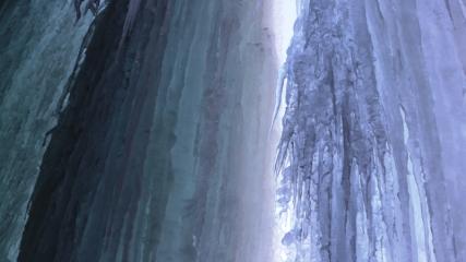 Buz tutan Toklu Şelalesi'nde görsel şölen