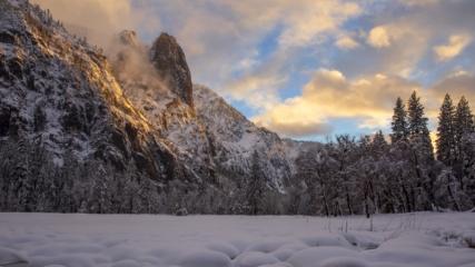 Yosemite Vadisi'nden kış manzaraları