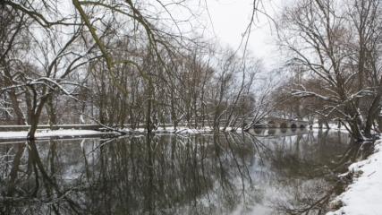 Saraybosna'daki kar yağışı şehirde görsel bir şölen oluşturdu
