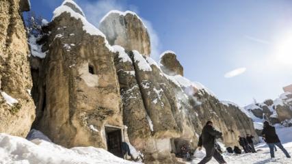 Karlarla kaplı antik kent 'Kilistra'